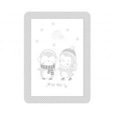 Kikka Boo Baby blanket Love Pingus 80/110, grey