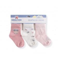 Kikka Boo Seamless Socks 6-12 m, Cat lovely day , 3 pcs. pink