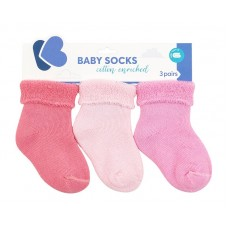 Kikka Boo Seamless Socks 0-6 m 3 pcs. pink