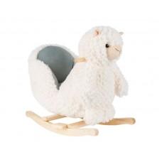 Kikka Boo Дървена люлка със седалка Лама