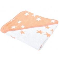 Kikka Boo Бебешка хавлия за баня с качулка Stars розова