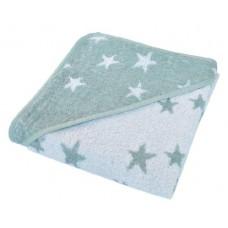 Kikka Boo Бебешка хавлия за баня с качулка Stars синя