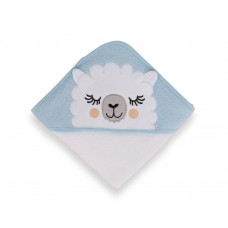 Kikka Boo Sleepy Lama Hooded Towel blue