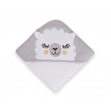 Kikka Boo Sleepy Lama Hooded Towel grey
