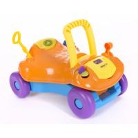 Kikka Boo Детска количка за яздене 2 в 1 оранжева