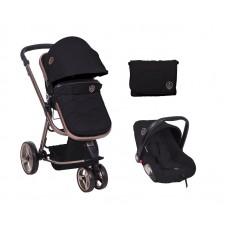 Kikka Boo Бебешка комбинирана количка Amica 3 в 1, черна