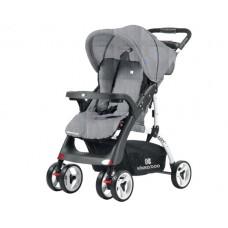 Kikkaboo Airy Baby Stroller Light Grey Melange