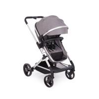 Kikka Boo Бебешка комбинирана количка Amulett 2 в 1 с трансформираща седалка сива