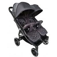 Kikka Boo Happy 2 Twin Stroller black
