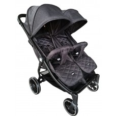 Kikka Boo Happy 2 Twin Stroller black
