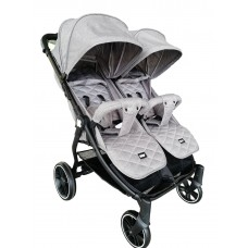 Kikka Boo Happy 2 Twin Stroller Light grey