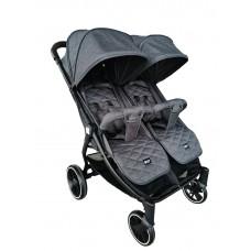 Kikka Boo Happy 2 Twin Stroller Grey