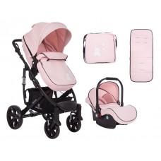Kikka Boo Beloved  Baby Stroller, 3 in 1 Pink