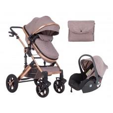 Kikka Boo Darling Baby Stroller 3 in 1, beige