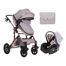 Kikka Boo Darling Baby Stroller 3 in 1, light grey