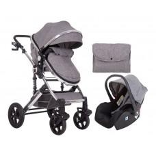 Kikka Boo Darling Baby Stroller 3 in 1, dark grey