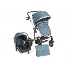 Kikka Boo Darling Baby Stroller 3 in 1, green