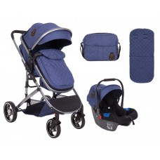 Kikka Boo Бебешка комбинирана количка 3 в 1 Tiara синя