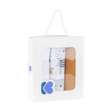 Kikka Boo Комплект 3 броя муселинови пелени 75 x 80 см, Bear Beige
