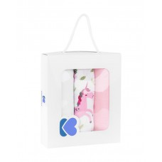Kikka Boo Комплект 3 броя муселинови пелени 75 x 80 см, Unicorn