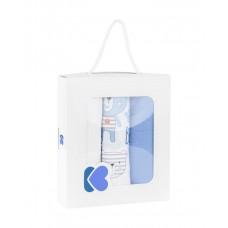 Kikka Boo Комплект 3 броя муселинови пелени 75 x 80 см, Bear Blue