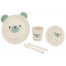 Kikka Boo Baby Dish Set Bamboo Bear mint