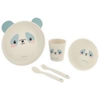 Kikka Boo Baby Dish Set Bamboo Panda blue