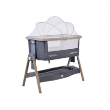 Kikka Boo Travel cot Nanna Dark Grey Melange wood