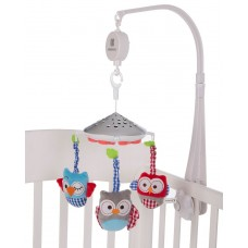 Kikka Boo Musical Mobile Owls, white