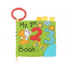 Kikka Boo Образователна книжка с чесалка 123