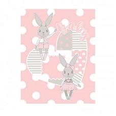 Kikka Boo Baby blanket Rabbit 110*140 cmpink