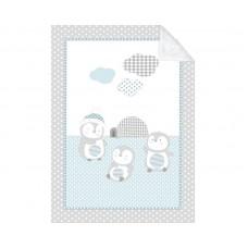 Kikka Boo Baby blanket Pingui Family 110/140, blue