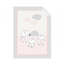 Kikka Boo Baby blanket Pingui Family 80/110, pink