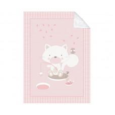 Kikka Boo Baby blanket Polar Fisher 110/140, pink