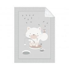 Kikka Boo Baby blanket Polar Fisher 110/140, grey