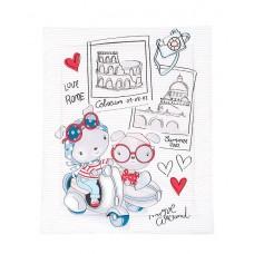 Kikka Boo Duvet cover for baby cot, Love Rome