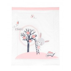 Kikka Boo Duvet cover for baby cot, Pink Bunny