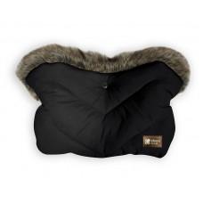 Kikka Boo Stroller Handmuff Luxury Fur Black