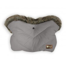Kikka Boo Stroller Handmuff Luxury Fur Grey