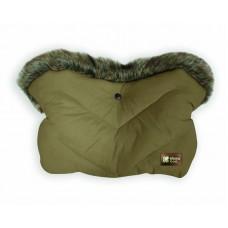 Kikka Boo Stroller Handmuff Luxury Fur Green