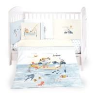 Kikka Boo Baby 6-elements Bedding Set The Fish Panda 60x120