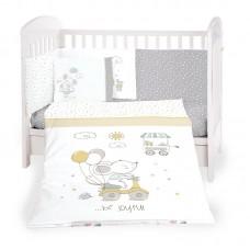Kikka Boo 6-elements Bedding Set Joyful Mice 70/140 cm