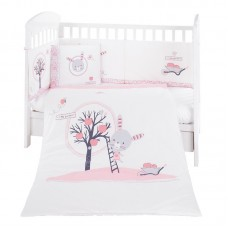 Kikka Boo 6-elements Bedding Set Pink Bunny 70x140