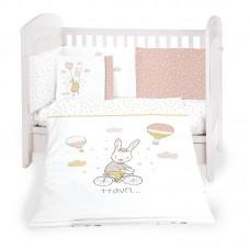 Kikka Boo 6-elements Bedding Set Rabbits in Love 70x140 сm
