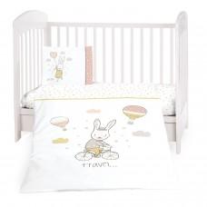 Kikka Boo Baby 3-elements Bedding Set Rabbits in Love