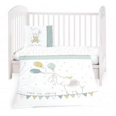 Kikka Boo Baby 5-elements Bedding Set Elephant Time