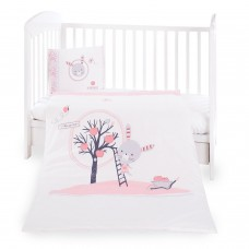 Kikka Boo Baby 5-elements Bedding Set Pink Bunny