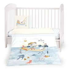 Kikka Boo Baby 5-elements Bedding Set The Fish Panda