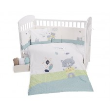 Kikka Boo Baby 6-elements Bedding Set Cat Lovely Day 70/140