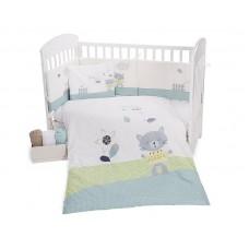 Kikka Boo Бебешки спален комплект от 6 части Cat Lovely Day 70/140 см